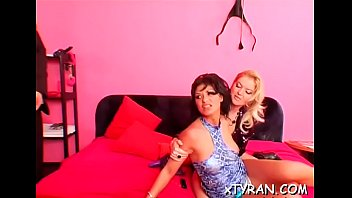 Sexy lesbians fuck with strap on toys in some sexy sadomasochism fetish