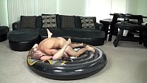 Creampied on inflatable