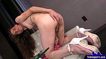 Analplay loving TS stroking her hard rod