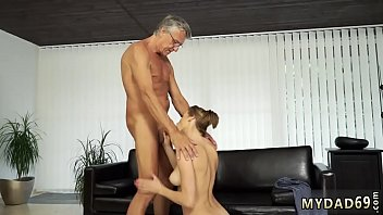 Old guy swallow cum Sex with her boyduddy´s father after swimming