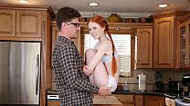 DON'T FUCK MY DAUGHTER - Petite Redhead Teen Dolly Little Fucks Her Big Dick Tutor Bruce Venture