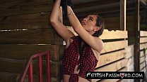 Countryside babe Aidra Fox fed cum after rough dicking