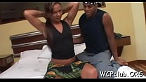 Black woman with lustful thoughts gets double permeated hard
