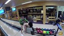 HUNT4K. Cuckold allows guy please his cute GF right in bowling club