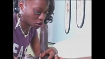 Hot young skut Jasmine Sky sucks big black dick then rides it by her pussy and asshole