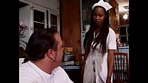 Beautiful careful coloured medical attendant Lil Asss sucks huge dick for patient's health