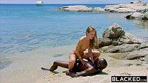 BLACKED Strong black man fucks blonde tourist on the beach