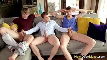 Stepbrothers fucks their straight friend in a threesome