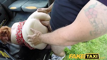 Fake Taxi Ginger cock monster deepthroats and anal 8 min