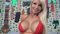 Big Titted Blonde Bombshell Rikki Six Gets Facialed