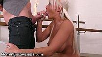 MommyBlowsBest Big Tit MILF Sucking Single's Dad's Big Dick