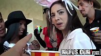 (Adriana Milano) Trinity St-Clair - College Halloween orgy party - Mofos