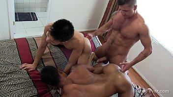Kinky Threeway Latino Asian with Golden Showers
