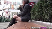Asian hos filmed upskirt