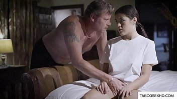 Abusive father f. stepdaughter to fuck