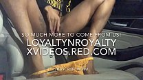 LOYALTYNROYALTY'S.. NASTY NEIGHBOR SQUIRTS IN RENTAL CAR!