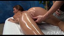 Hot screwed hard and facialed during a massage episode