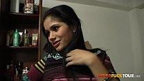 Real Colombian Amateur Teen Gets a Surprise Facial 3 min