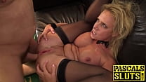 Busty Sasha Steele anally spankbanged before cum spray