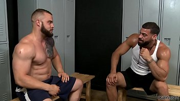 Bearded gays having anal sex