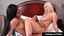Interracial Lesbians Nina Kayy & Lala Ivey Scissor Snatches!