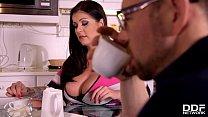 Buxom babe Anissa Jolie craves his long hard cock inside her mouth & pussy