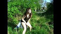 Public Amateur Teen Pissing with rude Dolly