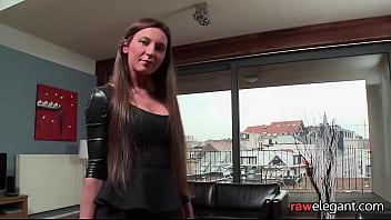 Bootylicious euro maid sucking black cock
