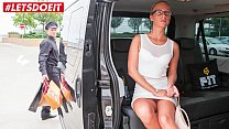 VIP SEX VAULT - Horny Milf Cums All Over the Taxi Drivers Back Seat