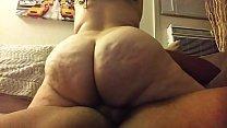 Big phat ass Puerto rican rides big cock and cums so fucking hard