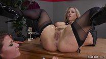 Lesbian wrestler anal toys busty blonde