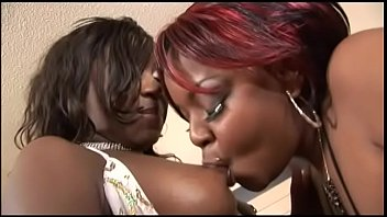 The best friend of two black lesbians is a crystal dildo