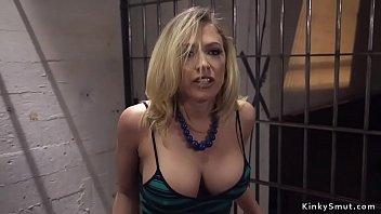 Border officer anal fucks big tits blonde