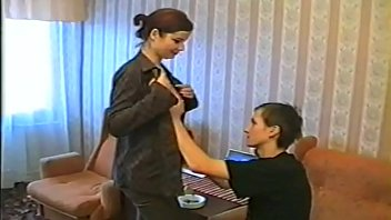 A young Russian son and mature Russian mom