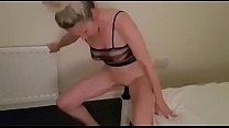 hanysy pretty mature woman entertains herself with a dildo