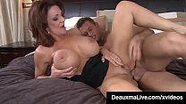 Busty Cougar Mom Deauxma Sucks & Fucks Young Friend's Cock!