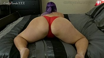 BBW with Fat Ass in Red Panties Plays For You