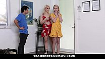 StepSiblings - Nosy Stepbro Fucks Sisters (Kimberly Vader) (Eden Sparkle) For Skipping School