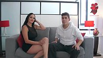 Axxxteca: Cuban hot wife is fucked by y. dude in front of her husband. Cristal Caraballo. Spiff