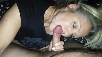 hanysy hot 43 year old milf is doing a blow job cum in mouth 8 min