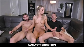 Blonde Teen Step Daughter Kate Kennedy Threesome With Step Dad And Uncle