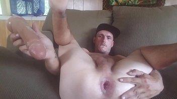 Fucking my ass w Huge Dildo