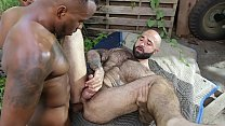 GAYWIRE - Atlas Grant Gets His Hairy, Muscular Ass Stuffed By Phoenix Fellington