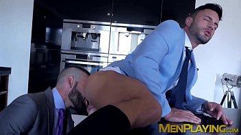 Businessman pounding partners tight wet butt hole hard 6 min
