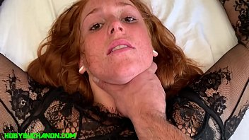 New Teen Redhead Jayme Gets it Rough in her Pussy and Throat