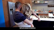 MYLF - Big Dick Stepson Cums All Over Hot Cougar Stepmom (Prestyn Lee)