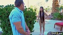 Amazing Asian Stepsister Fed up With Stepbro jerking off at her, so she fucks him! - Jade Kush