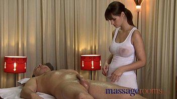 Massage Rooms Rita oils up her huge juicy breasts on a big throbbing cock 14 min