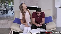 Sister fucks Brother While Studying- Avery Adair