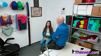 Cute shoplifting teenager Gianna Gem meets fake PI